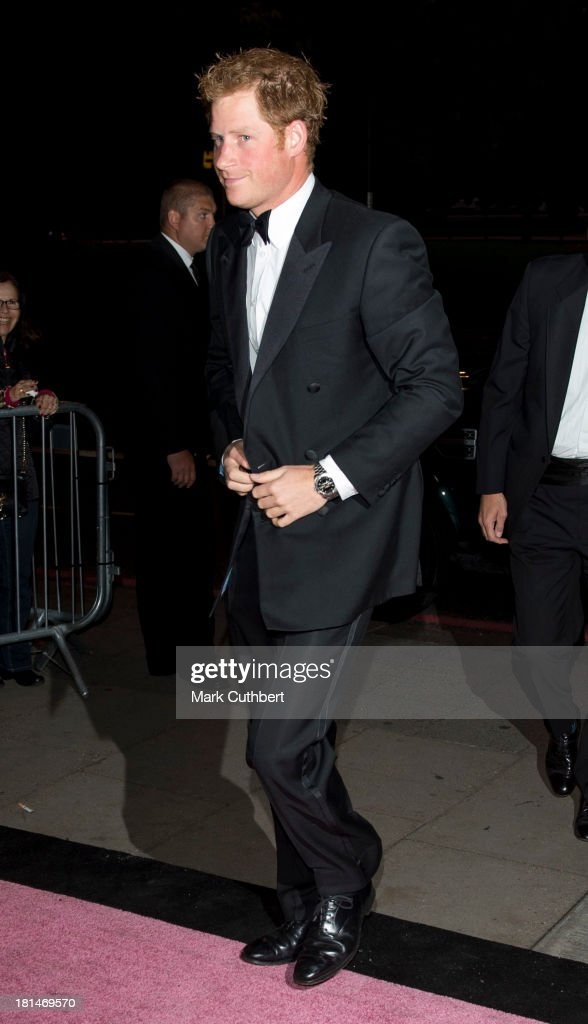 Prince Harry arrives at The Boodles Boxing Ball at The Grosvenor House Hotel on September 21, 2013 in London, England.