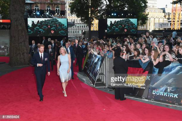 Prince Harry arrives at the 'Dunkirk' World Premiere at Odeon Leicester Square on July 13 2017 in London England