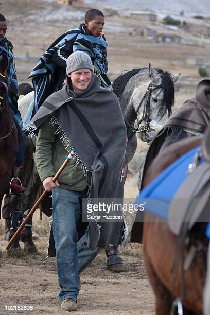 Prince Harry arrives at the Herd Boy School on June 17 2010 in Semonkong Lesotho The Princes are on a joint trip to Southern Africa to visit projects...