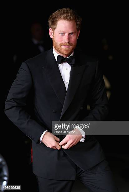 Prince Harry arrives at the Royal Albert Hall for the Royal Variety Performance on November 13 2015 in London England