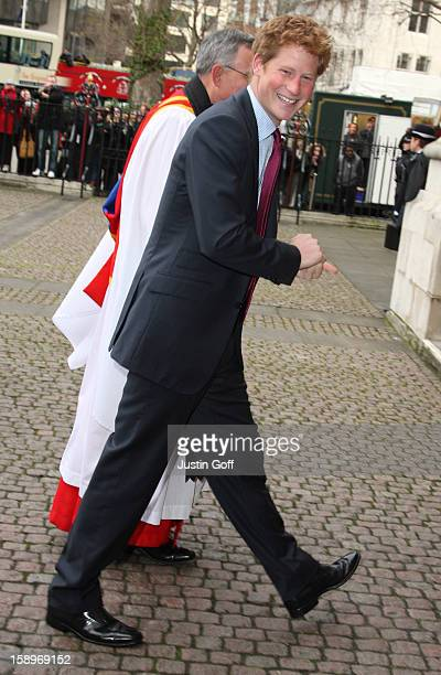 Prince Harry Arrives At The Woman'S Own Children Of Courage Awrds 2008 At Westminster Abbey In Central London