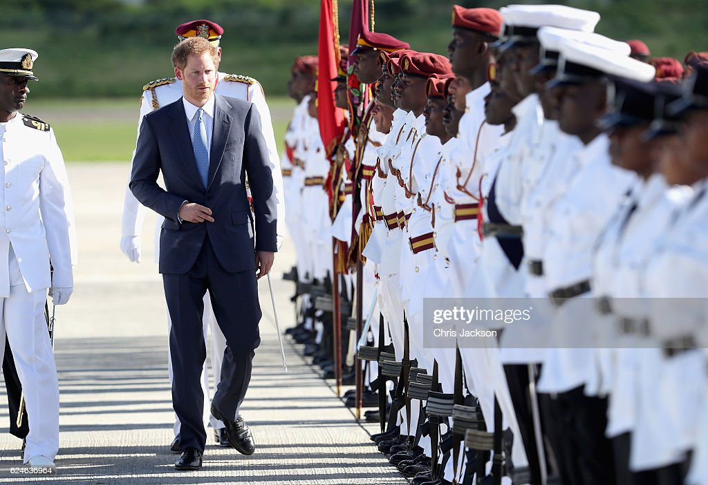 Prince Harry Visits The Caribbean - Day 1 : News Photo
