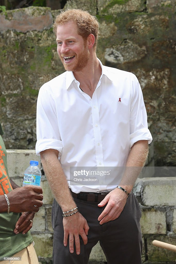 Prince Harry arrives for a visit to the 'Nature Fun Ranch' on the eleventh day of an official visit on December 1, 2016 in St Andrew, Barbados. The ranch allows young people to speak freely with one another about important topics, including HIV/AIDS, providing them with a positive focus to guide their lives in the right direction. Prince Harry's visit to The Caribbean marks the 35th Anniversary of Independence in Antigua and Barbuda and the 50th Anniversary of Independence in Barbados and Guyana.