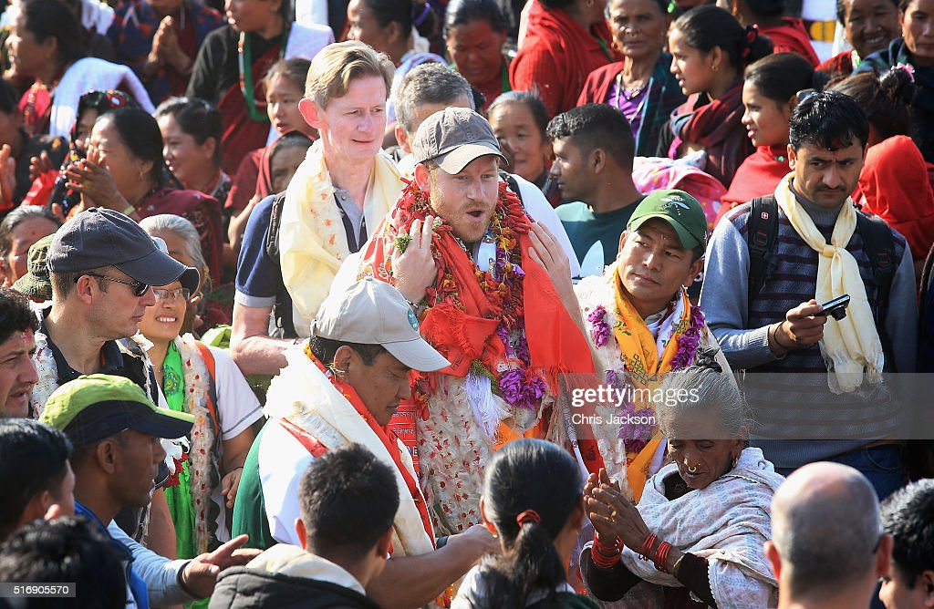 Prince Harry Visits Nepal - Day 4 : News Photo