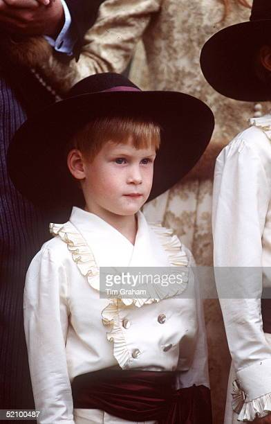 Prince Harry As Pageboy In Historic Costume At The Wedding Of His Uncle Viscount Althorp