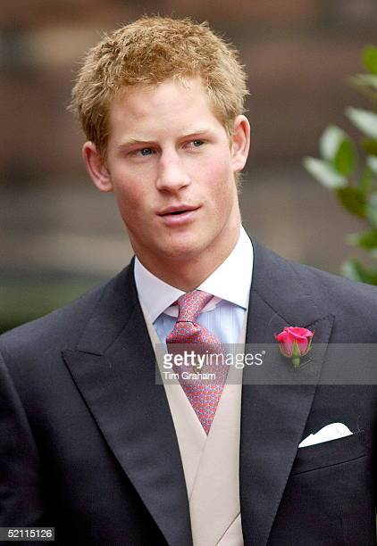 Prince Harry As Usher At The Van Cutsem/grosvenor Wedding At Chester Cathedral