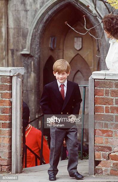 Prince Harry At The Easter Service At St George's Chapel At Windsor Castle