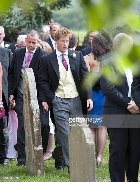 Prince Harry At The Wedding Of Mark Dyer And Amanda Kline At St Edmund'S Church Crickhowell Powys In Wales