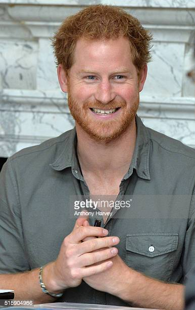 Prince Harry attends a briefing by MapAction to learn more about the charity's response to the recent Nepal earthquakes ahead of his tour to the...