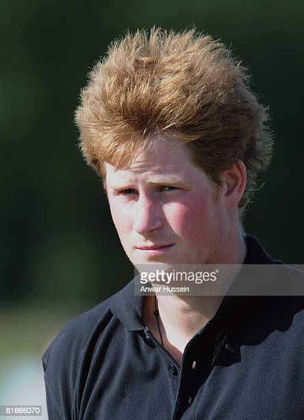 Prince Harry attends a charity polo match at the the Beaufort Polo Cub on June 22 2008 in Tetbury England
