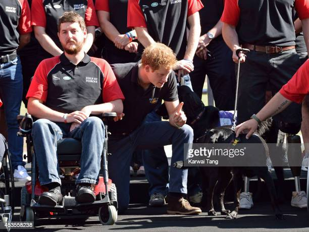 Prince Harry attends a photocall ahead of the Invictus Games at Potters Field Park on August 13 2014 in London England