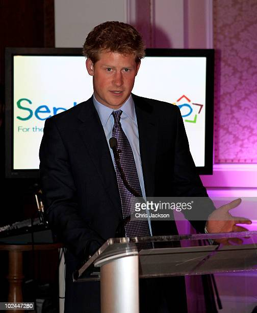 Prince Harry attends a reception for Prince Harry's charity Sentebale at Greenwich Country Club on June 26 2010 in New York New York Prince Harry is...