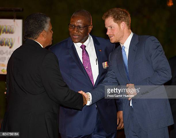 Prince Harry attends a reception hosted by the Governor General Sir Rodney Williams at the newly renovated Clarence House on the first day of an...