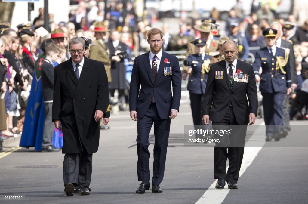 Prince Harry attends Anzac Day Memorial in London : News Photo