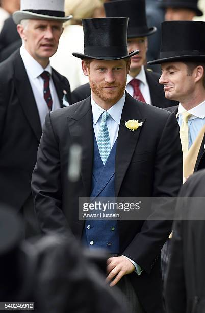 Prince Harry attends Day 1 of Royal Ascot on June 14 2016 in Ascot England