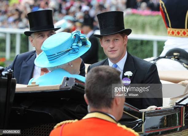 Prince Harry attends Day 3 of Royal Ascot at Ascot Racecourse on June 19 2014 in Ascot England