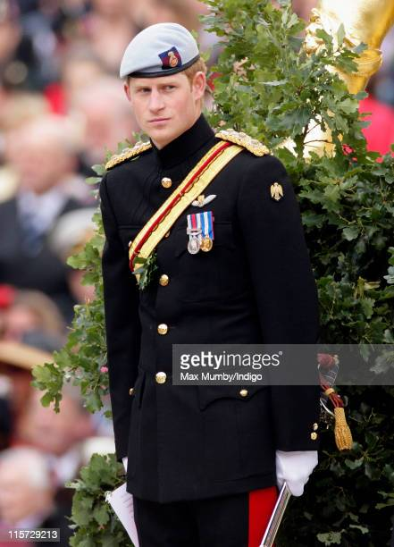 Prince Harry attends the annual Chelsea Pensioners Founders Day Parade at Royal Hospital Chelsea on June 9, 2011 in London, England.