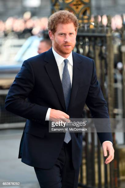 Prince Harry attends the annual Commonwealth Day service and reception during Commonwealth Day celebrations on March 13 2017 in London England