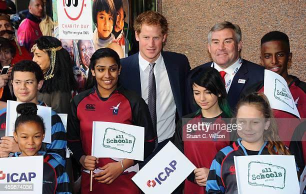 Prince Harry attends The Annual ICAP Charity Day at ICAP on December 3, 2014 in London, England.