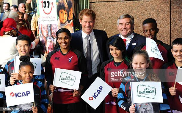 Prince Harry attends The Annual ICAP Charity Day at ICAP on December 3 2014 in London England