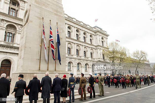 Prince Harry attends the ANZAC Service at The Cenotaph on April 25 2016 in London England