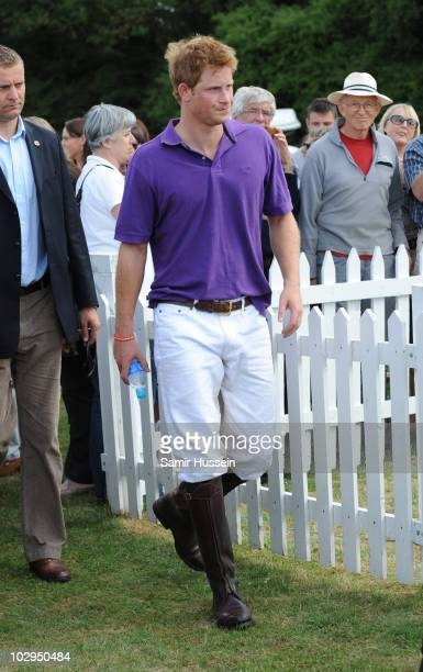 Prince Harry attends the Asprey World Class Cup presentation at Hurtwood Park Polo Club on July 17 2010 in Ewhurst England