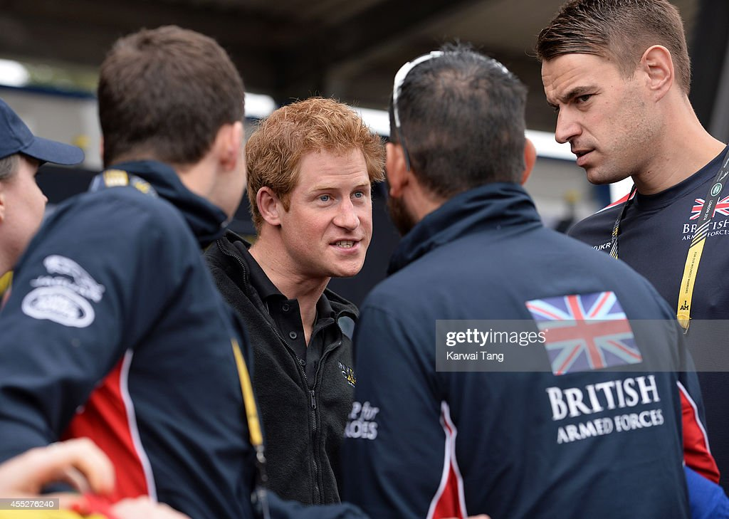 Prince Harry attends the athletics during the Invictus Games at Lea Valley Athletics Centre on September 11, 2014 in London, England.
