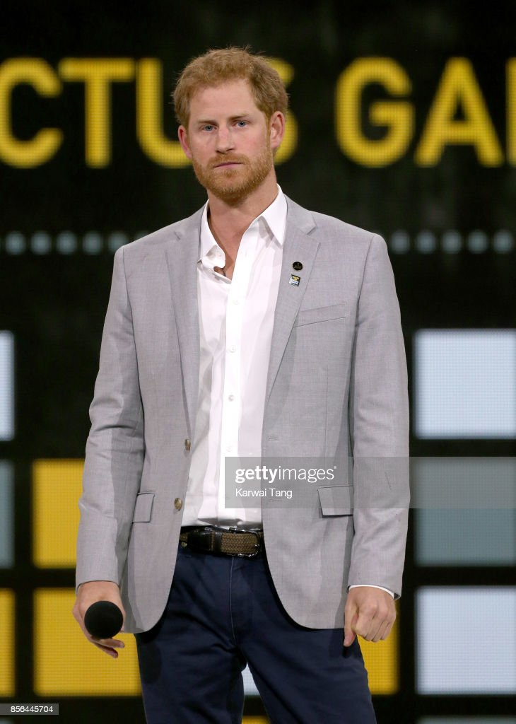 Prince Harry attends the Closing Ceremony on day 8 of the Invictus Games Toronto 2017 at the Air Canada Centre on September 30, 2017 in Toronto, Canada. The Games use the power of sport to inspire recovery, support rehabilitation and generate a wider understanding and respect for the Armed Forces.