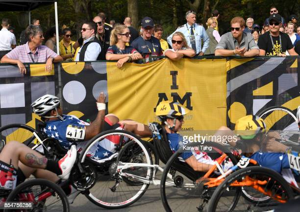 Prince Harry attends the Cycling on day 5 of the Invictus Games Toronto 2017 in High Park on September 27 2017 in Toronto Canada The Games use the...