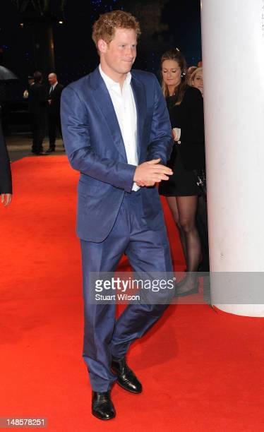 Prince Harry attends the European premiere special screening of 'The Dark Knight Rises' at BFI IMAX on July 18 2012 in London England