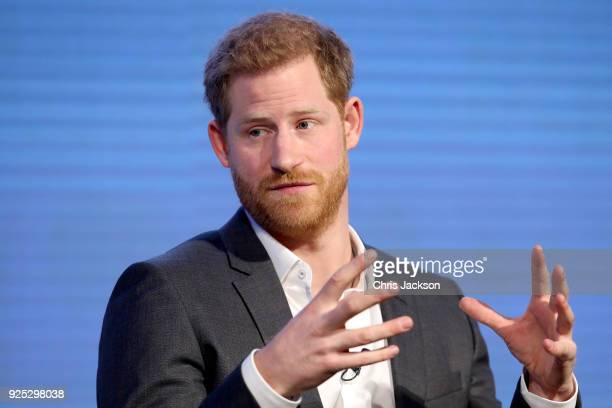 Prince Harry attends the first annual Royal Foundation Forum held at Aviva on February 28 2018 in London England Under the theme 'Making a Difference...