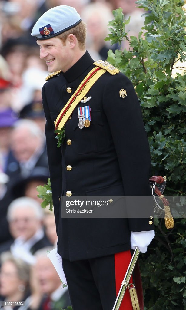 Prince Harry's Review of the Founder's Day Parade : News Photo