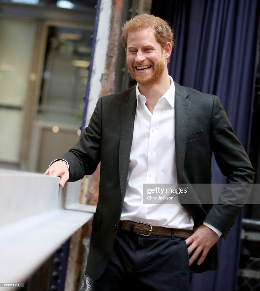 Prince Harry attends the GAME – Sports in society event at KPH Projects on October 25, 2017 in Copenhagen, Denmark.