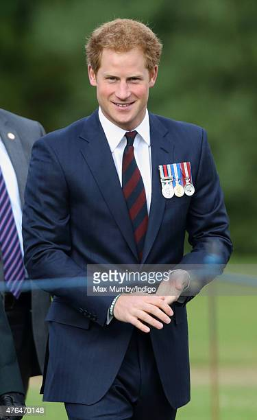 Prince Harry attends the Gurkha 200 Pageant at the Royal Hospital Chelsea on June 9 2015 in London England