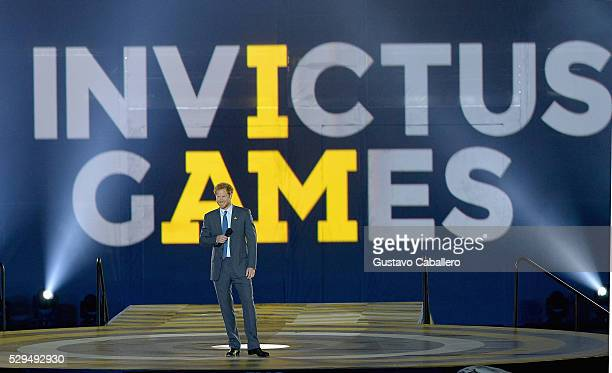 Prince Harry attends the Invictus Games Orlando 2016 - Opening Ceremony on May 8, 2016 in Palm Beach, Florida.