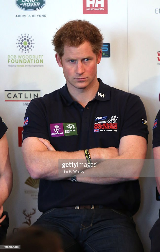"""Prince Harry Attends The Launch Event For Walking With The Wounded's """"Walk Of Britain"""" : News Photo"""