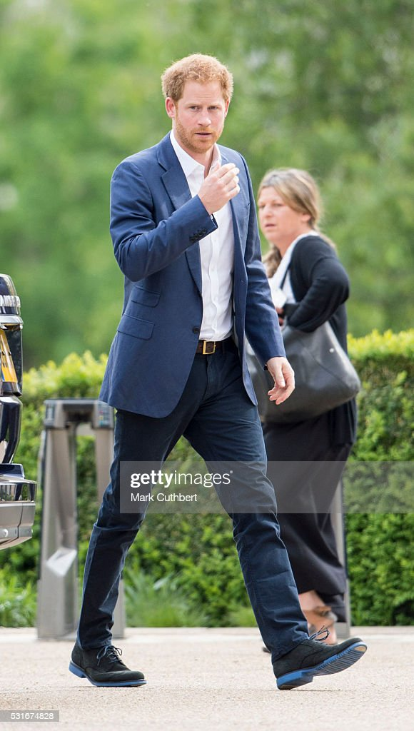 Prince Harry attends the launch of Heads Together Campaign at Olympic Park on May 16, 2016 in London, England.
