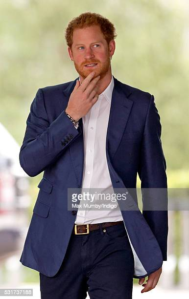 Prince Harry attends the launch of the Heads Together campaign to eliminate stigma on mental health at the Queen Elizabeth Olympic Park on May 16...