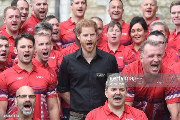 Prince Harry attends the launch of the team selected to represent the UK in the 2017 Invictus Games in Toronto at The Tower of London on May 30 2017...