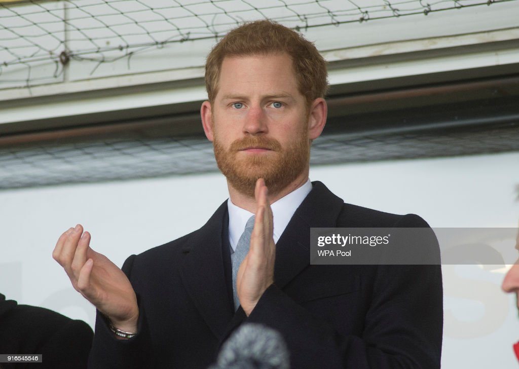 Prince Harry Attends Six Nations Rugby Match