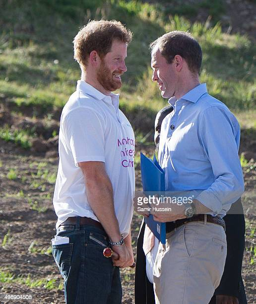 Prince Harry attends the opening of Sentebale's Mamohato Children's Centre during an official visit to Africa on November 26 2015 in Maseru Lesotho