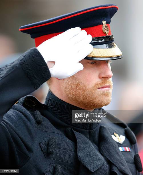 Prince Harry attends the opening of the Field of Remembrance at Westminster Abbey on November 10 2016 in London England