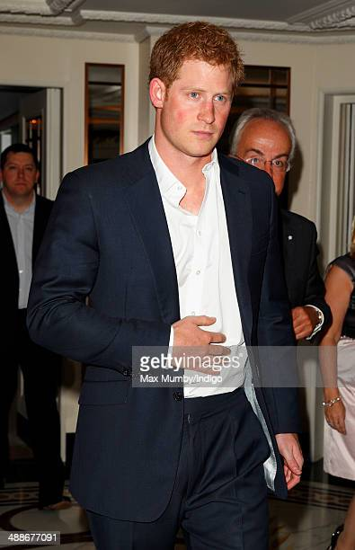 Prince Harry attends the Sentebale Summer Party at the Dorchester Hotel on May 7 2014 in London England
