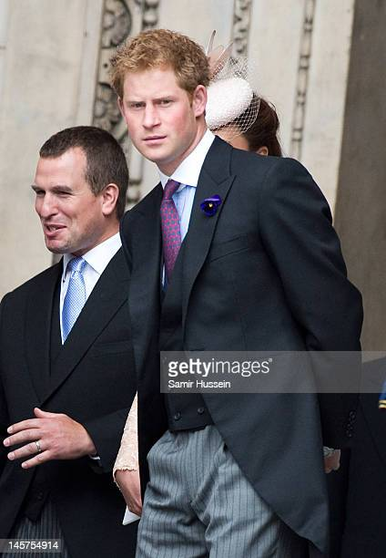 Prince Harry attends the Service of Thanksgiving at St Paul's Cathedral as part of the Diamond Jubilee marking the 60th anniversary of the accession...