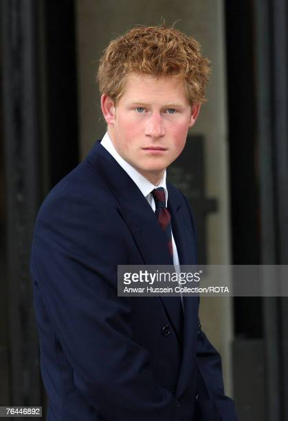 Prince Harry attends the Service to celebrate the life of Diana, Princess of Wales at the Guards Chapel on August 31, 2007 in London, England.