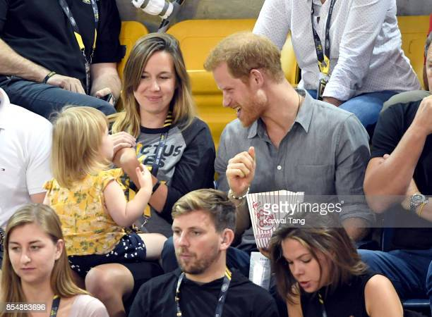 Prince Harry attends the Sitting Volleyball on day 5 of the Invictus Games Toronto 2017 at Mattamy Athletic Centre on September 27 2017 in Toronto...