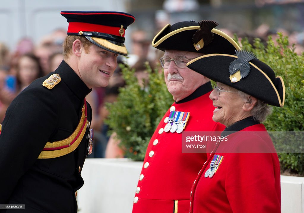 Prince Harry attends the 'Step Short' commemorative event as he unveils the Folkestone Memorial Arch, to mark the centenary of the First World War on August 4, 2014 in Folkestone, England. Monday 4th August marks the 100th anniversary of Great Britain declaring war on Germany. In 1914 British Prime Minister Herbert Asquith announced at 11pm that Britain was to enter the war after Germany had violated Belgium neutrality. The First World War or the Great War lasted until 11 November 1918 and is recognised as one of the deadliest historical conflicts with millions of causalities. A series of events commemorating the 100th anniversary are taking place throughout the day.