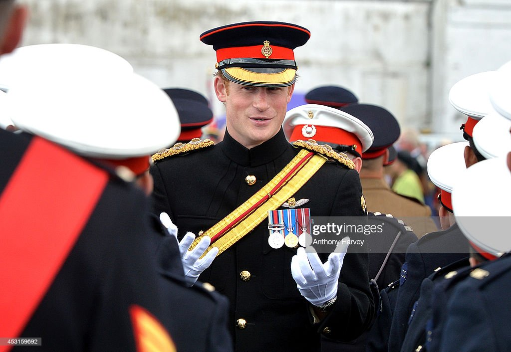 GBR: Prince Harry Attends The Unveiling Of The Folkestone Memorial Arch