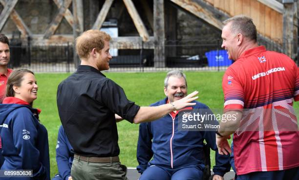 Prince Harry attends the UK Team Launch For Invictus Games Toronto 2017 at The Tower of London on May 30 2017 in London England