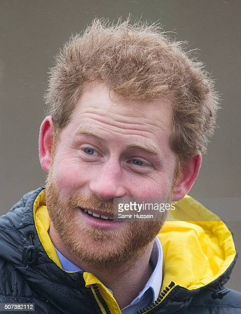 Prince Harry attends the UK team trials for the Invictus Games Orlando 2016 at University of Bath on January 29 2016 in Bath England